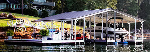 Flotation Systems Gable Roof Boat Docks