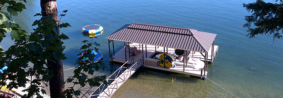 Flotation Systems Hip Roof Boat Docks