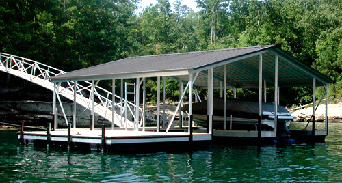 flotation systems gable roof covered boat dock small 1