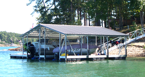 flotation systems gable roof covered boat dock small 2