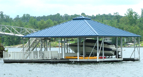 flotation systems hip roof covered boat dock small 6