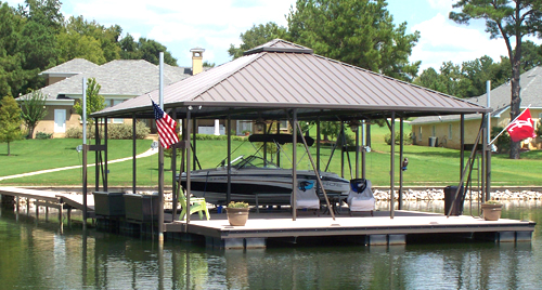 flotation systems hip roof covered boat dock small 2