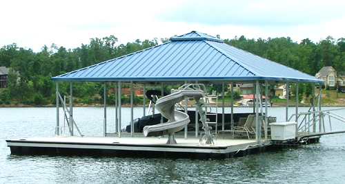 flotation systems hip roof covered boat dock small 1