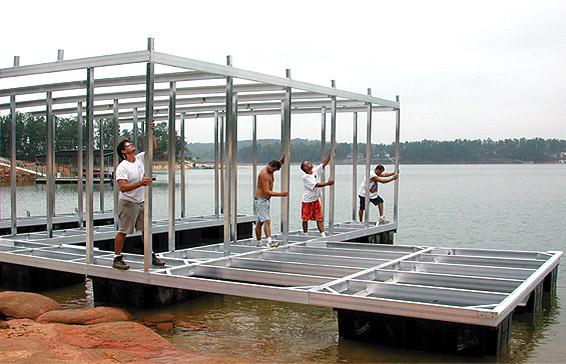 Boat Dock Construction | Flotation Systems Aluminum Boat Docks