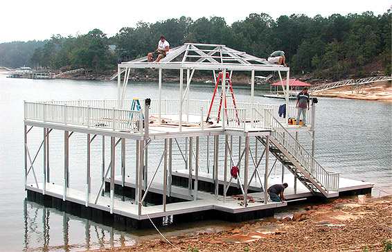 A dock almost ready for a lifetime of use