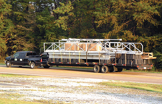 Dock on the way to its new home