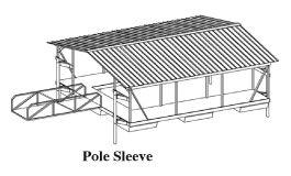 Pole-and-Sleeve-Anchoring