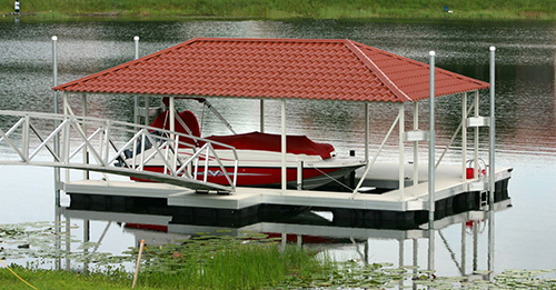 Floating Boat Dock Systems   Flotation Systems Aluminum Boat Docks