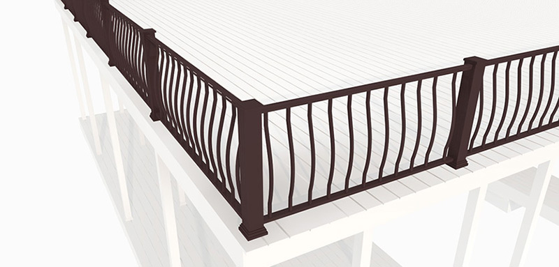 Flotation Systems Belly Dock Railing Render