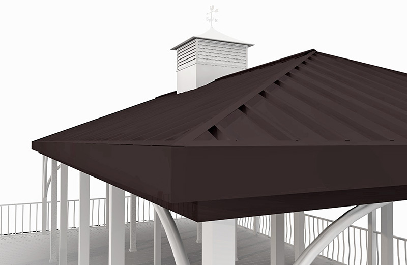 Flotation Systems Dock Roof Render
