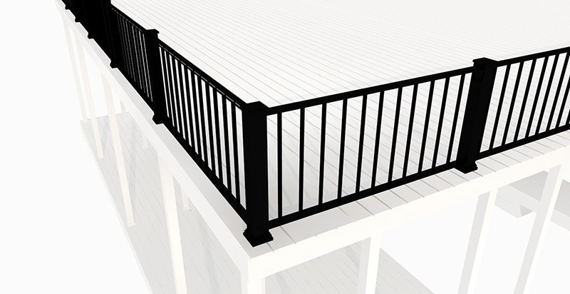Flotation Systems Straight Dock Railing Render