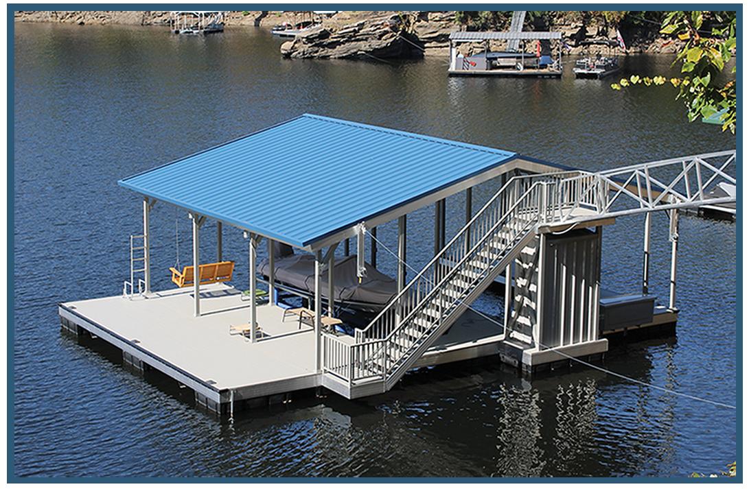 Designer Color Series Boat Docks Savannah Flotation