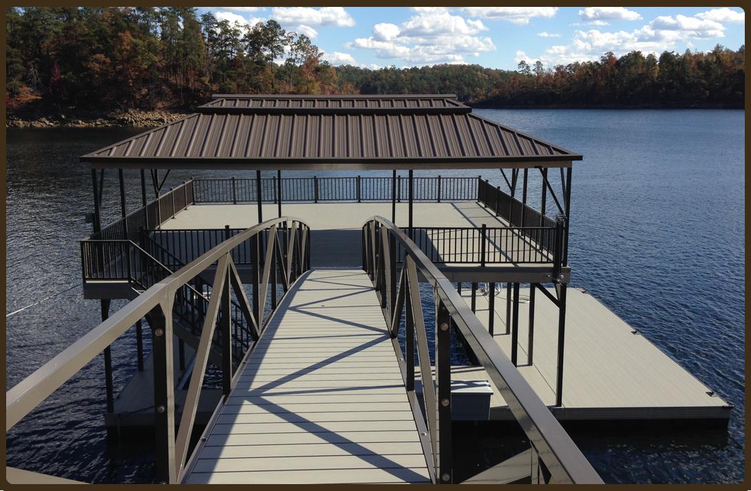 designer color series boat docks driftwood flotation systems aluminum boat docks. Black Bedroom Furniture Sets. Home Design Ideas