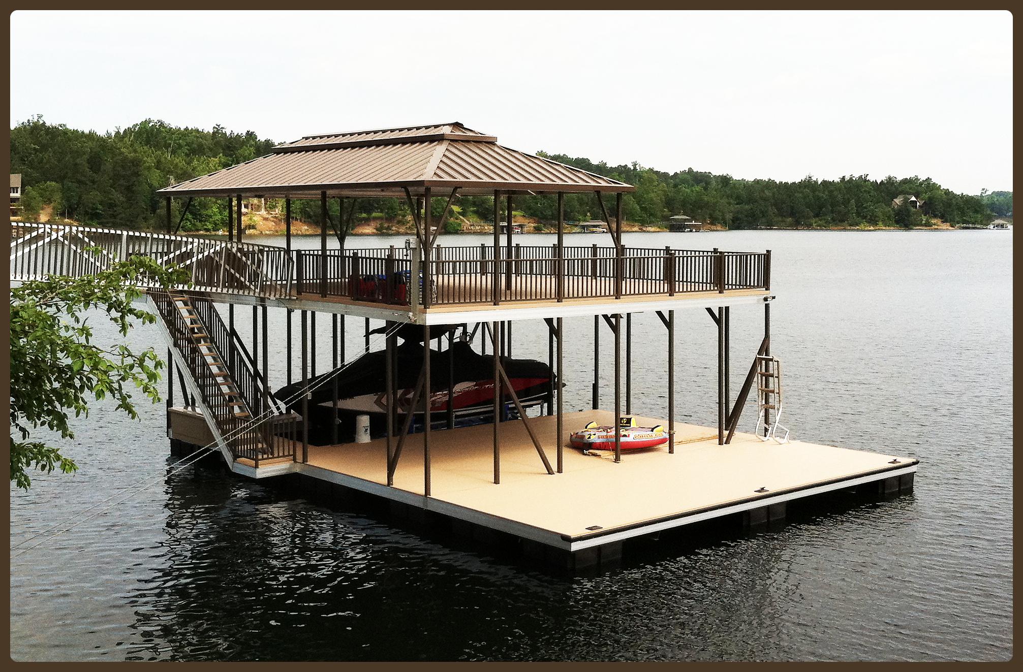 Woods n Water boat dock color series main