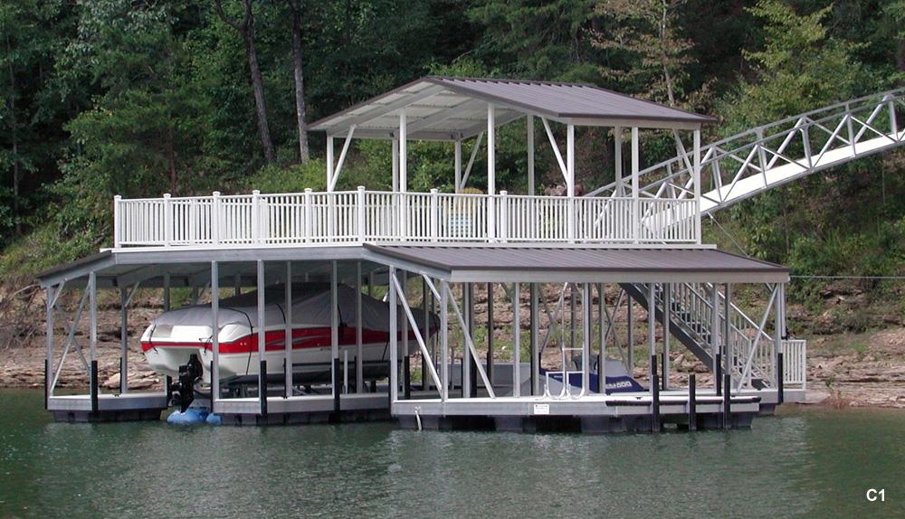 Flotation Systems Sundeck Combo Boat Dock Gallery