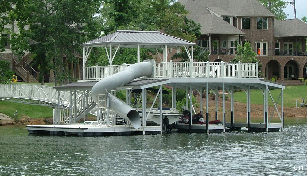 Flotation Systems Sundeck Combo Boat Dock Gallery | Flotation ...
