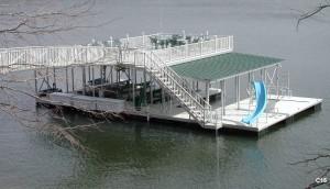 Flotation Systems sundeck combo boat dock C15