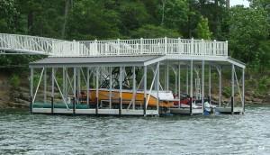 Flotation Systems sundeck combo boat dock C4