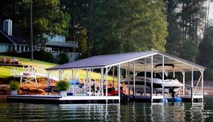 Flotation Systems gable roof boat dock G1