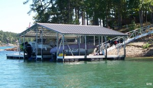 Flotation Systems gable roof boat dock G10