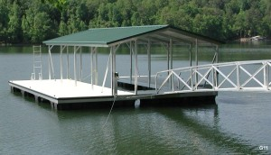 Flotation Systems gable roof boat dock G11