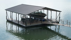 Flotation Systems gable roof boat dock G14