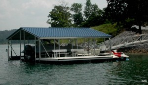 Flotation Systems gable roof boat dock G16