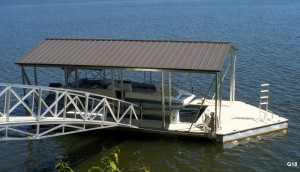 Flotation Systems gable roof boat dock G18