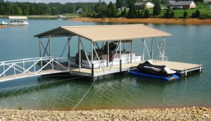 Flotation Systems gable roof boat dock G19