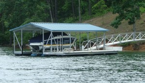 Flotation Systems gable roof boat dock G2