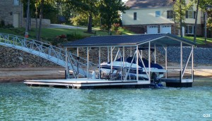 Flotation Systems gable roof boat dock G20