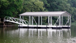 Flotation Systems gable roof boat dock G22