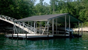 Flotation Systems gable roof boat dock G3