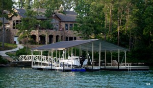Flotation Systems gable roof boat dock G4