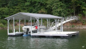 Flotation Systems gable roof boat dock G7