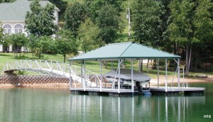 Flotation Systems hip roof boat dock H10