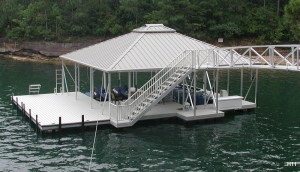 Flotation Systems hip roof boat dock H11
