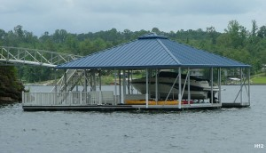 Flotation Systems hip roof boat dock H12