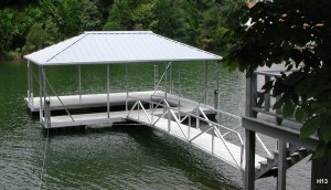 Flotation Systems hip roof boat dock H13