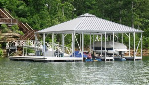 Flotation Systems hip roof boat dock H15