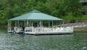 Flotation Systems hip roof boat dock H16