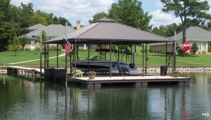 Flotation Systems hip roof boat dock H19