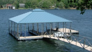 Flotation Systems hip roof boat dock H2