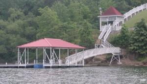 Flotation Systems hip roof boat dock H20