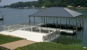 Flotation Systems hip roof boat dock H21