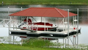 Flotation Systems hip roof boat dock H22
