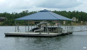 Flotation Systems hip roof boat dock H24