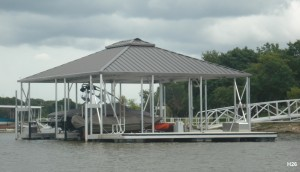 Flotation Systems hip roof boat dock H26