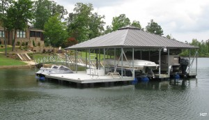 Flotation Systems hip roof boat dock H27