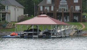 Flotation Systems hip roof boat dock H28